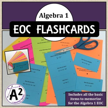 Algebra 1 EOC Review Flashcards (MAFS and FSA)