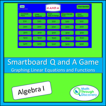 Algebra I: Smartboard Q and A Game - Graphing Linear Equat