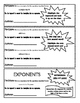 Algebra I - Write Variable Expressions - Journal Notes