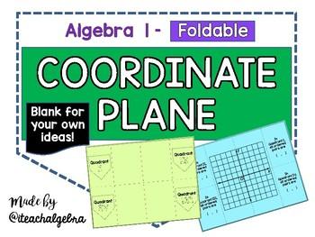 Algebra I and Grade 8 Middle School Math Coordinate Plane