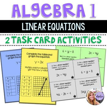 Algebra I and Grade 8 Middle School Math Linear Equations