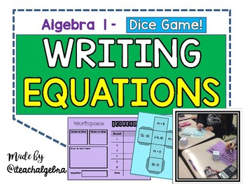 Algebra I and Grade 8 Middle School Math - Writing Linear