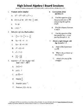 Algebra I,Board Session 17,Common Core Review,Quiz Bowl,fu