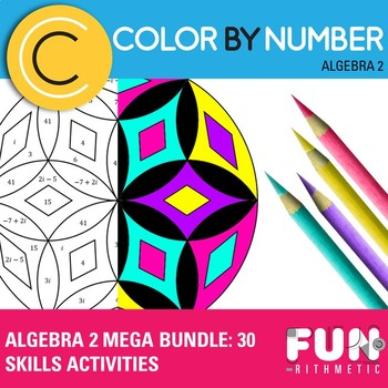 Algebra II Color by Number Mega Bundle: 30 Activities for