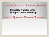 Algebra: Inequalities Number Lines Multple Choice Warm-up