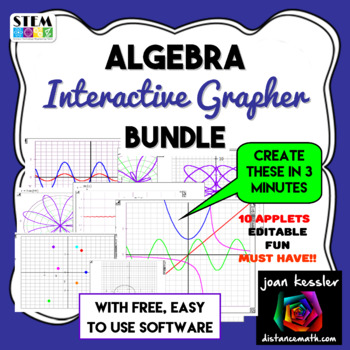 PreCalculus Interactive Fun Grapher with built - in Templates