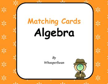 Algebra - Matching Cards