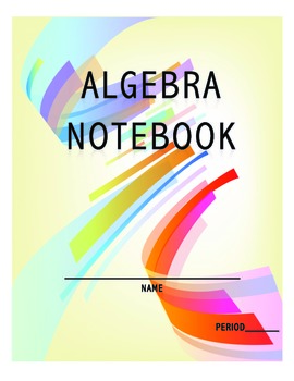Algebra Notebook Cover and Progress Card