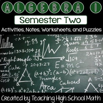 Algebra One Bundle - Second Semester (Radicals, Factoring,
