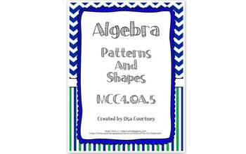 Algebra Patterns and Shapes - Input and Output - 4th Grade