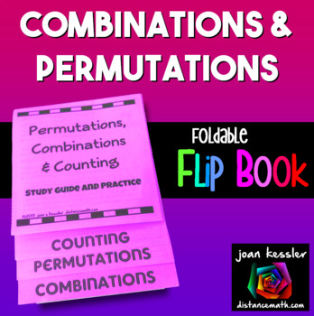 Algebra Permutations and Combinations Flip Book Foldable