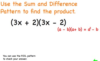 Polynomials Special Patterns