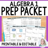 Algebra Summer Prep Packet