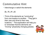 Algebra Properties PowerPoint - DaScam!
