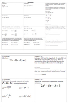 Algebra Review - Bundle