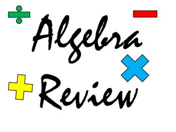 Algebra Review Power Point