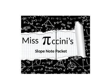 Algebra - Slope Unit Note Packet - Part One