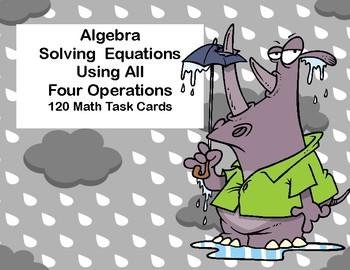 Algebra-Solving  Equations Using All Four Operations -Grad