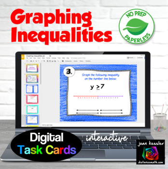 Graphing Inequalities Digital Task Cards with GOOGLE slides