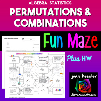 Algebra Statistics Combinations Permutations FUN Maze plus