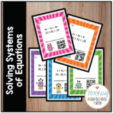 Algebra Systems of Equations Task Cards