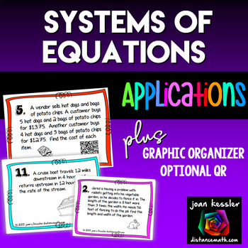 Algebra Systems of Equations Applications Word Problems