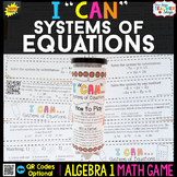 Algebra 1 Solving Systems of Equations Game - Algebra 1 Math Game