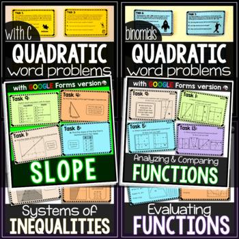 Algebra Task Cards MEGA Bundle