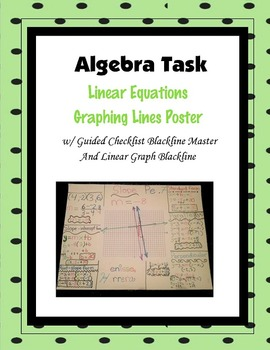 Algebra Project: Linear Graphs Poster Task
