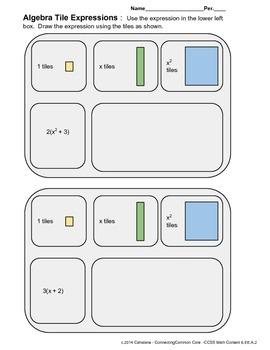 Algebra Tile Expressions 3