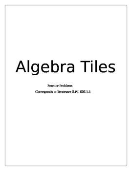 Algebra Tiles practice sheets