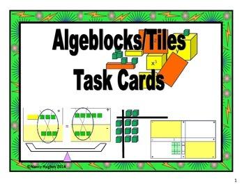 Algebra Tiles/Algeblocks Task Cards