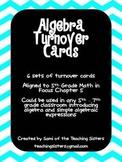 Algebra Turn Over Cards - 5th Grade Math in Focus
