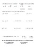 Algebra: Unit 10 - Practice Test or Review on Graphing and