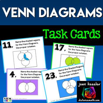 Algebra Set Theory Venn Diagrams Task Cards