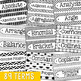Algebra Vocabulary Word Wall Terms or Flash Cards, Math Test Prep