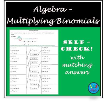 Algebra Worksheet - Expanding Brackets