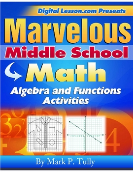 Algebra and Functions Activities eBook for Middle School Math