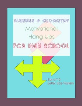 Algebra and Geometry Poster Set for High School