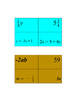 Algebra grouping cards