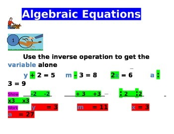 Algebraic Equation Posters