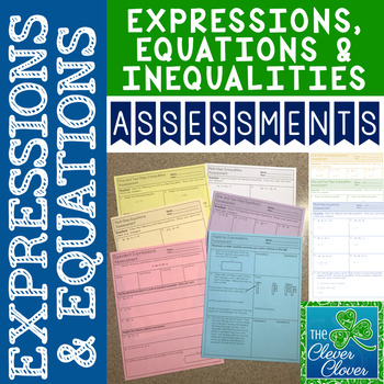 Expressions and Equations Quizzes (7.EE.1 - 7.EE.4)