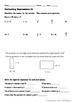 Algebraic Expressions: Homework or Worksheets