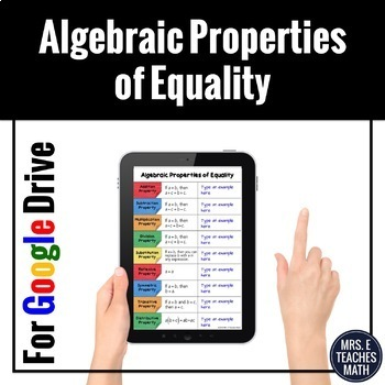 Algebraic Properties of Equality Digital Foldable