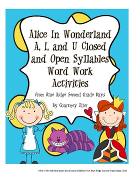 Alice In Wonderland: A, I, and U Closed and Open Syllable