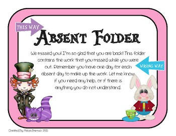 Alice in Wonderland Absent Folders