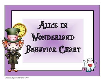 Alice in Wonderland Behavior Chart