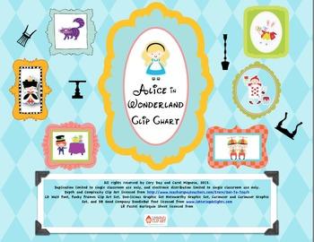Alice in Wonderland Clip Chart