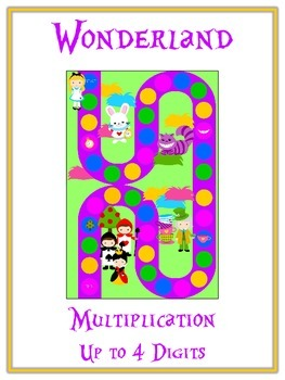 Alice in Wonderland Math Folder Game - Common Core Multipl