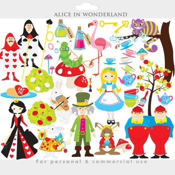 Alice in Wonderland clipart - clip art mad hatter queen of